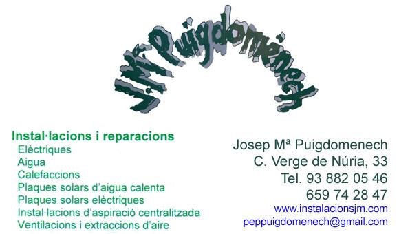 Instal·lacions JM Puigdomènech SL